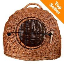 Wicker Cat Den XXL Travel Basket