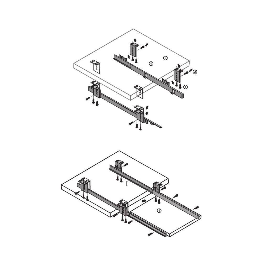 Under Desk Computer Keyboard Tray Shelf Sliding Drawer Complete Kit Black 2