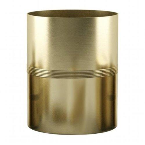 NuSteel JW8H NuSteel Jewel Gold Finish Wastebasket 7.5 Quart