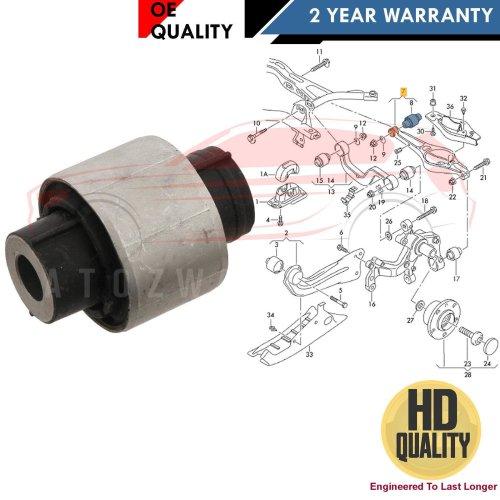 FOR AUDI REAR LOWER SUSPENSION WISHBONE CONTROL ARM INNER BUSH HD 1K0505311AB