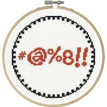 Dimensions Needlecrafts 70-74634 Say It Counted Cross Stitch Kit, People Person -  say symbols counted cross stitch kit6 round 14