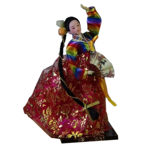 Korean Ancient Costume Decorations Doll Furnishing Articles Oriental Doll, No.7
