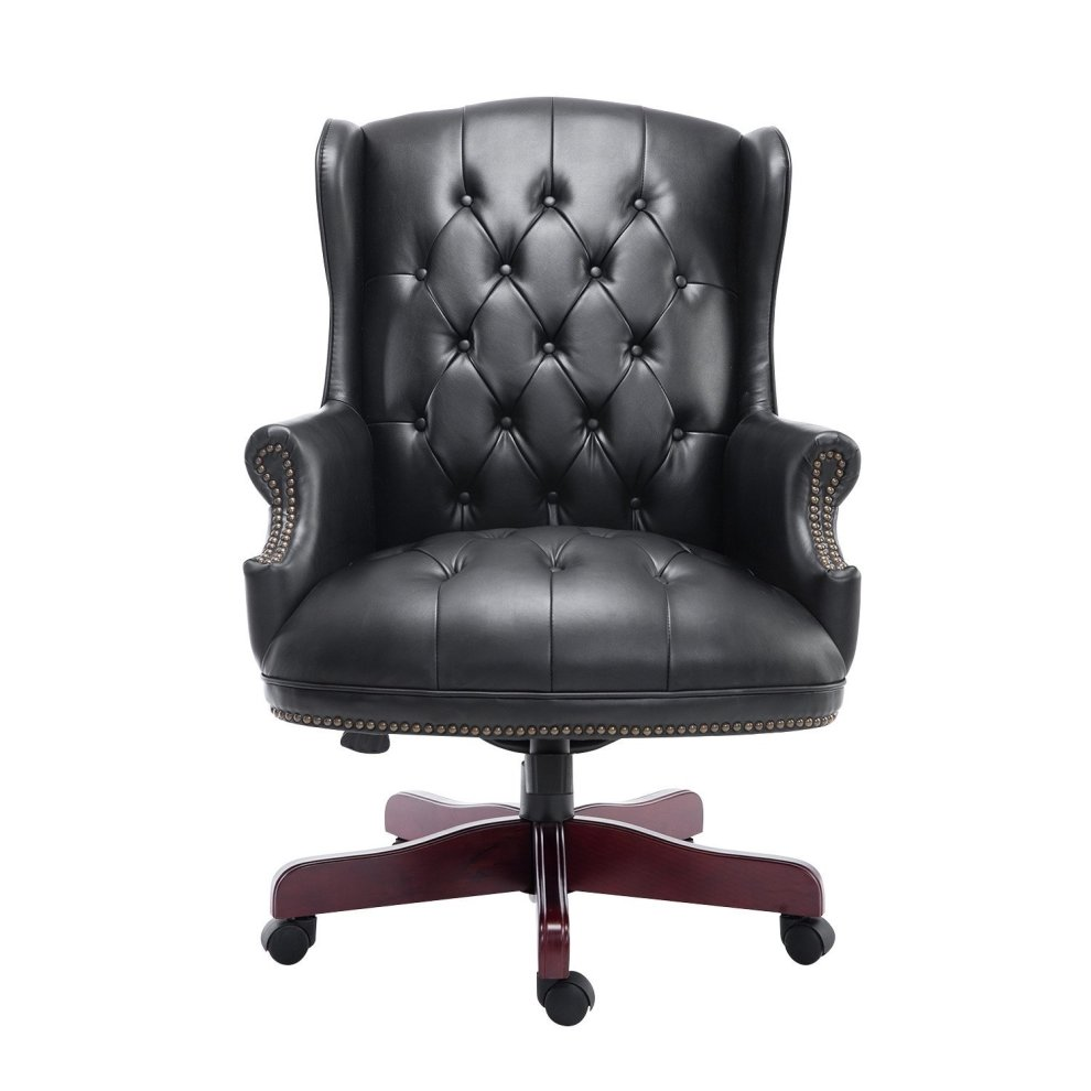 luxury leather office chair. homcom luxury executive high back office chair pu leather padded swivel armchair 1