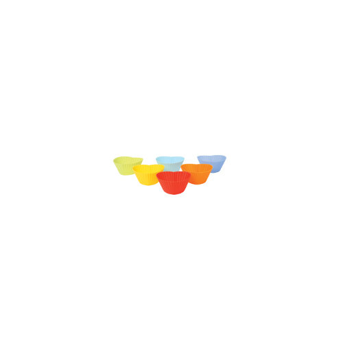 Swift Silicone Heart Shaped  Muffin Cups, pack of 6 assorted colours