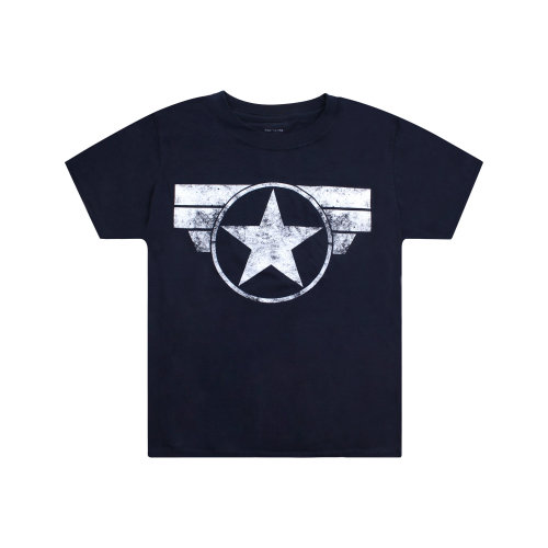 Marvel Captain America Logo Boys T-shirt Navy