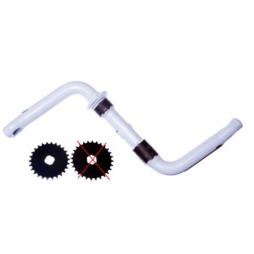 85mm ONE PIECE CRANK for Bike Bicycles (Square hole) in WHITE New