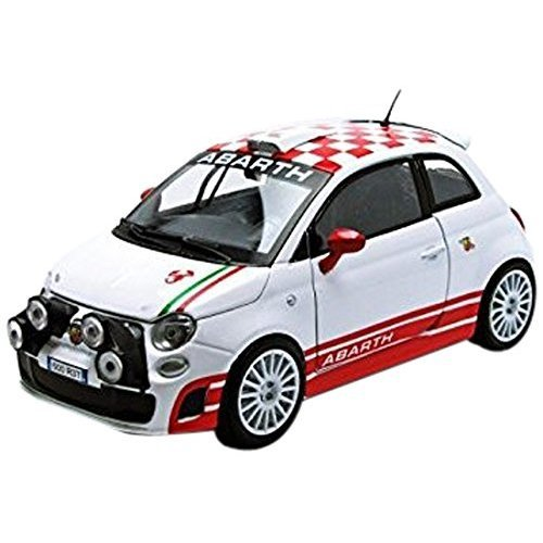 Motormax 73379w Fiat Abarth 500 R3t White 1 24 Diecast Car Model On