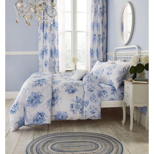f23d067432e Catherine Lansfield Canterbury Floral Easy Care Double Duvet Set Blue