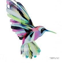 4 x Paper Napkins - Corfu Hummingbird - Ideal for Decoupage / Napkin Art