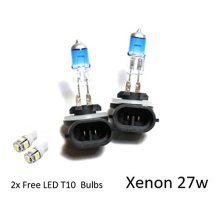 H27W/2 [881] 27w SUPER WHITE XENON UPGRADE HID T10 LED SIDELIGHTS