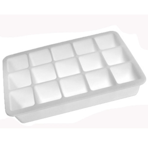 Safe And Soft Silicon Ice Cube Tray, White, Set of 2,18.8*12*3.5CM