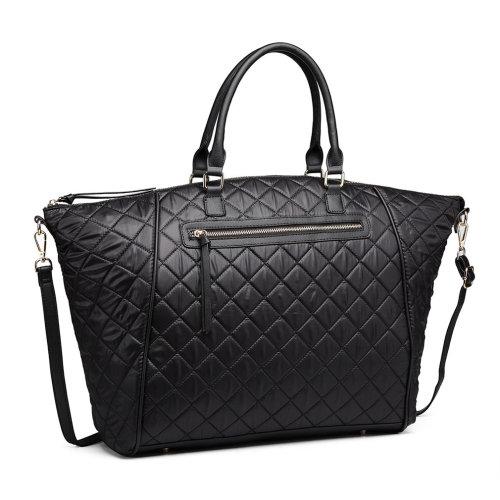 Miss Lulu Women PU Leather Quilted Handbag Shoulder Bag Large Size Tote