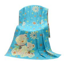 "Baby/Kids Cotton Bath Rug Breathable Bath Towel Summer Cover Blanket 27.55""x55.11""(Blue-3)"