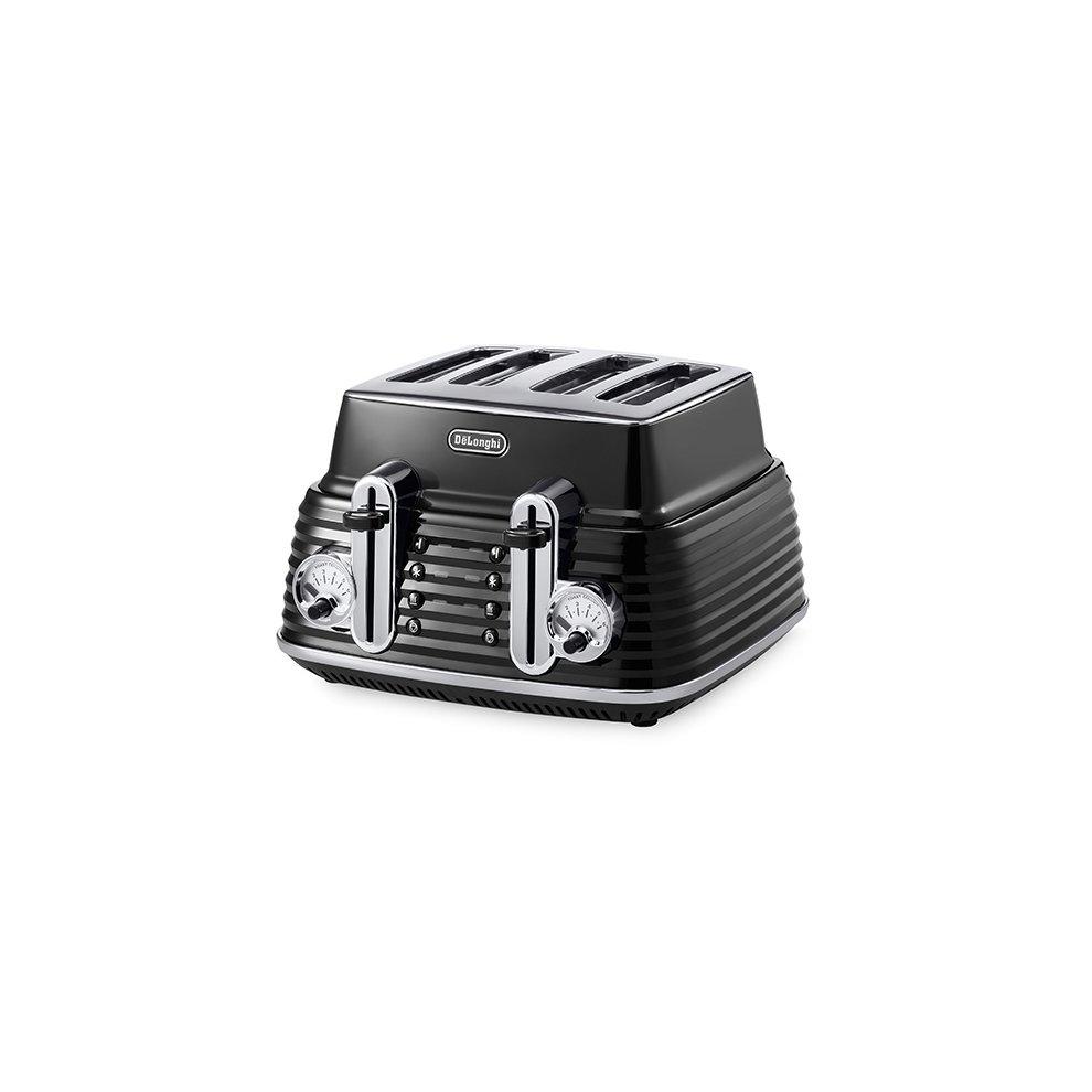 Delonghi Scultura 4 Slot Toaster Black