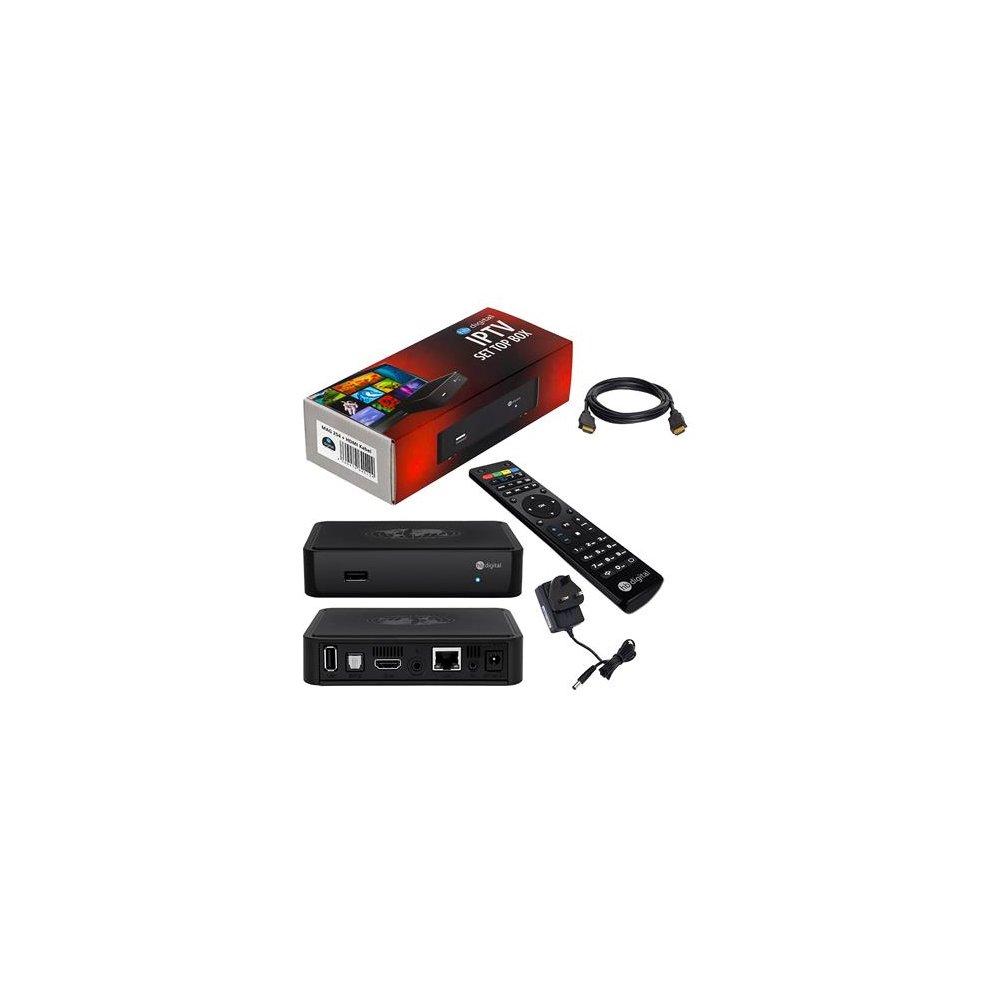 e045ef7b969f32 MAG 254 Original HB-DIGITAL IPTV SET TOP BOX Multimedia Player Internet TV  IP Receiver.