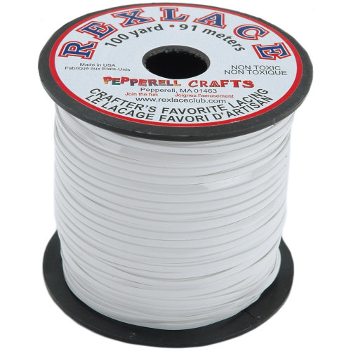 """Rexlace Plastic Lacing .0938""""X100yd-White"""