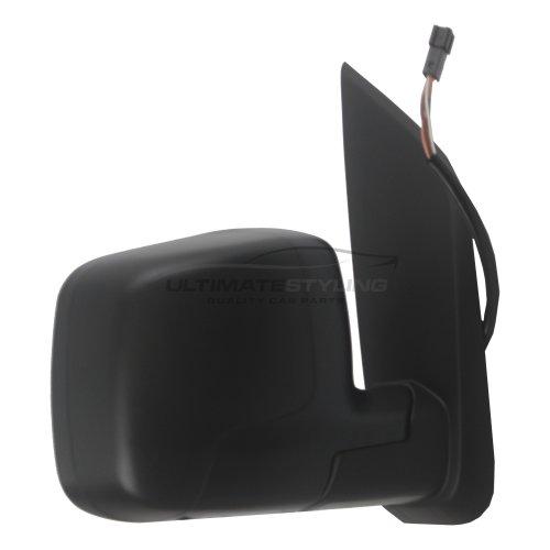 Citroen Nemo Van 2008-> Electric Wing Door Mirror Black Cover Drivers Side O/S