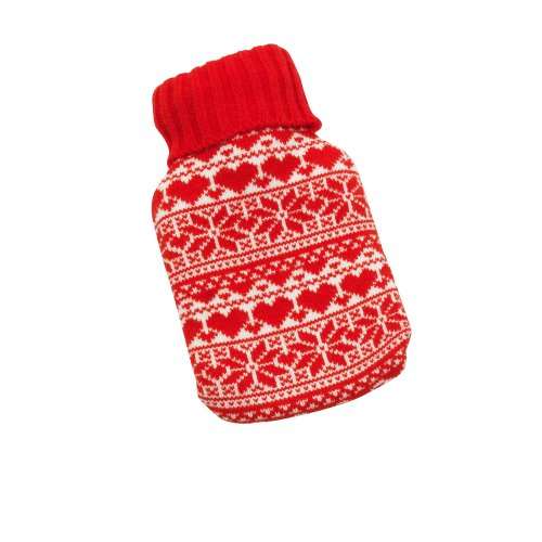 Christmas Hot Water Bottle In Christmas Cover / XMAS Novelty (Pack of 2)