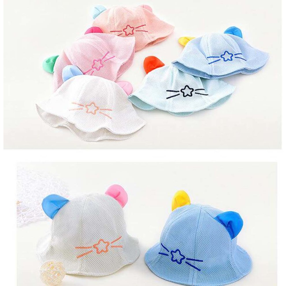 543db427e Lovely Cap Cotton Sunhat Foldable Beach Hat Great Gift Baby Hat Summer Hat  Blue