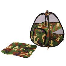 [Fashionable Camouflage] Folding Pet Tent,Dog Nest,Cat Bed,NAVY GREEN
