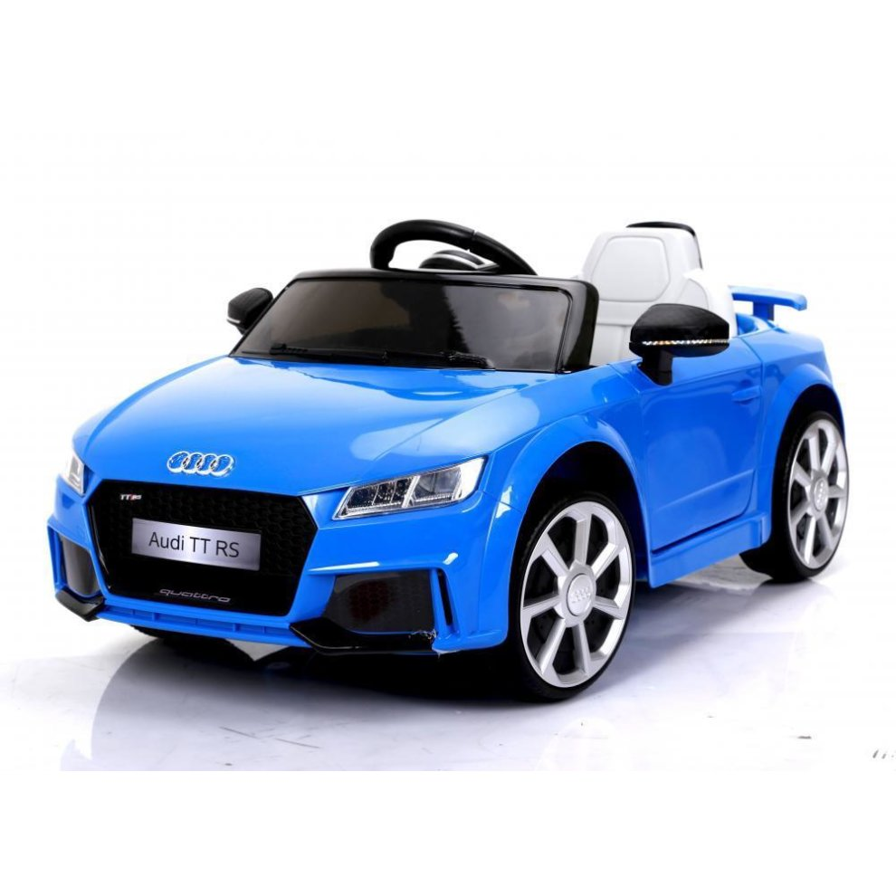 Blue Audi Tt Rs 6v Electric Ride On Car Kids Ride On Audi Car On