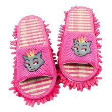 [Pink] Useful Mop Slippers Floor Cleaning Slippers Mopping Shoes