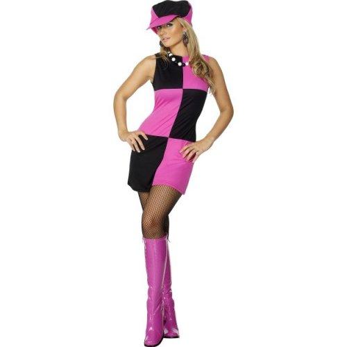 Uk 8-10 Women s Swinging 60s Fancy Dress Costume - Ladies Womens Outfit 70s  - 60s dress costume swinging fancy ladies womens outfit 70s sixties hat on  OnBuy 4f16ed0c3