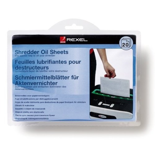 Rexel Shredder Oil Sheets (20) 20pcs