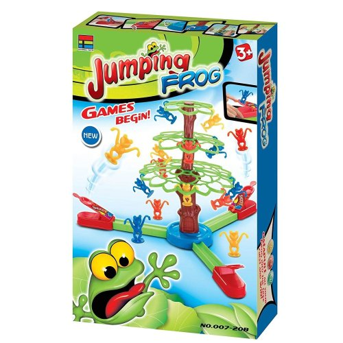 Kids Jumping Tumbling Frogs Board Game Toy Multi colour Frog Hopping Family