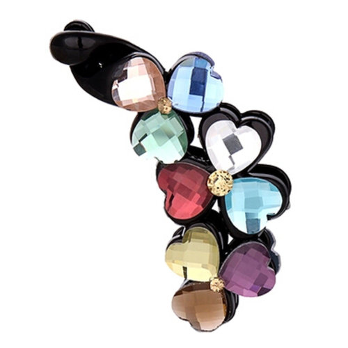 Ladies Beautiful Heart Diamond Hair Clips Claw Clip  Hair Comb Clips, NO.1