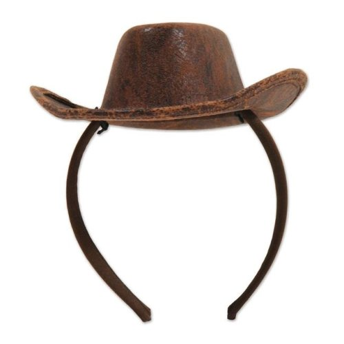 2801bc5a5b54e Beistle 53336 Cowboy Hat Headband