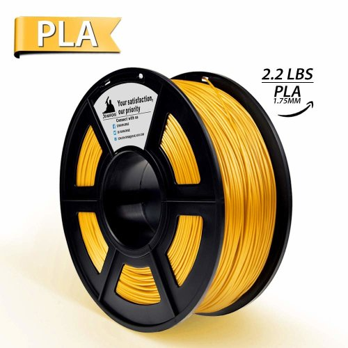 Metal Filled Gold PLA 3D Printer Filament, 3D Printing Materials, Dimensional Accuracy +/- 0.02 mm, 2.2 LBS,1KG Spool