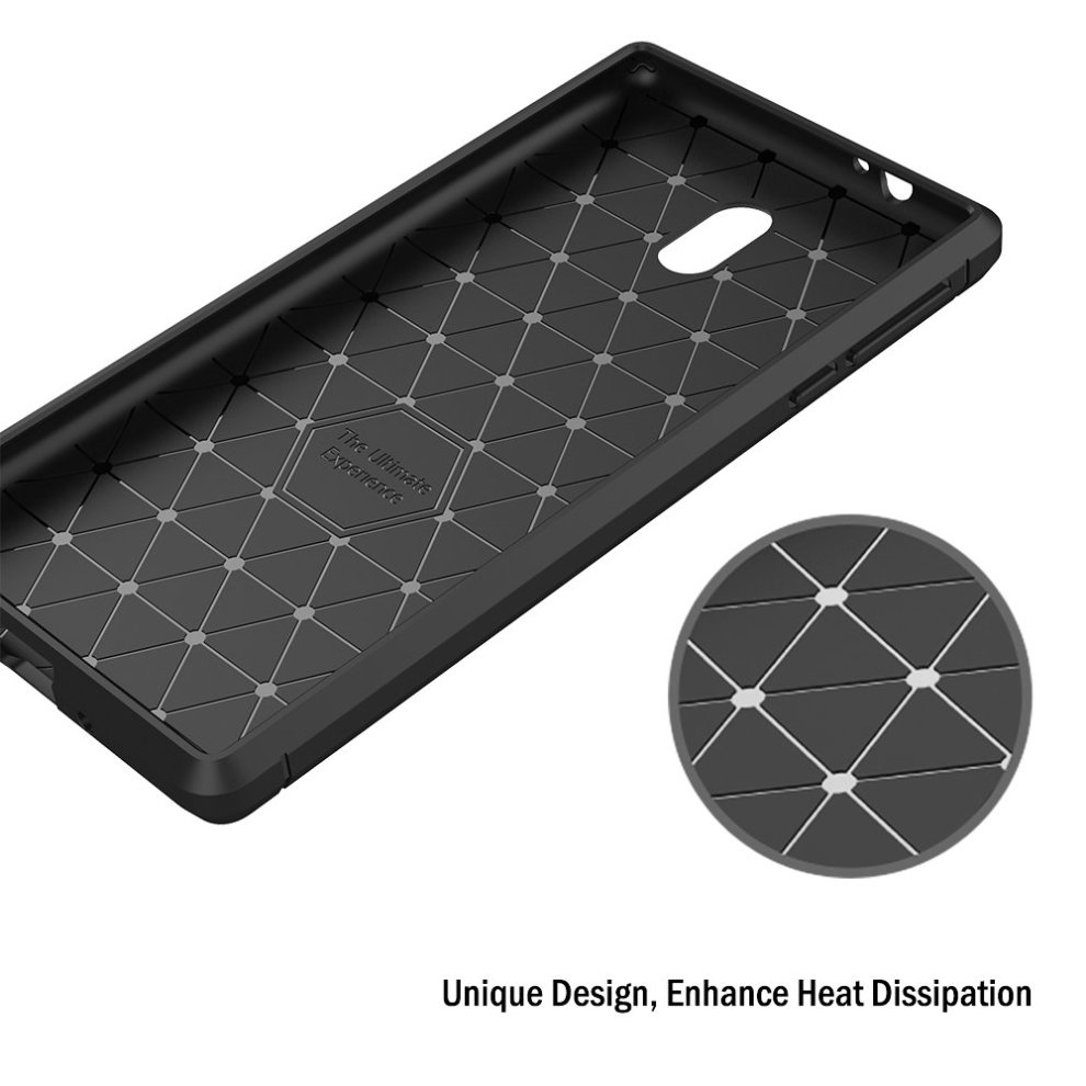 best sneakers 47aa1 bb536 Nokia 3 Case, AICEK Black Silicone Cover for Nokia 3 Bumper Covers Nokia 3  Black Carbon Fiber Case