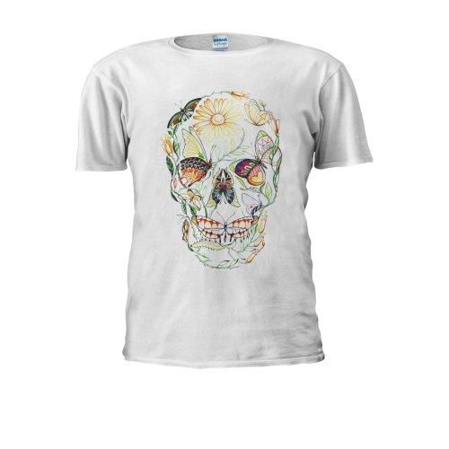 Butterfly Skull Skeleton Tumblr Men Women Unisex Top T Shirt