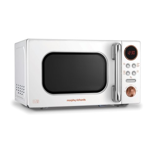 Morphy Richards 511504 Microwave, White Rose Gold