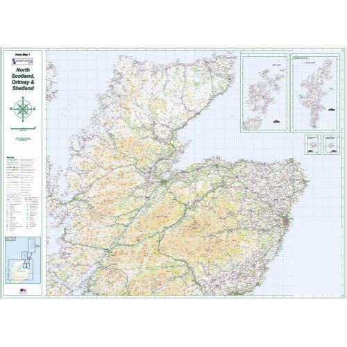 Road Map 1 Northern Scotland, Orkney & Shetland