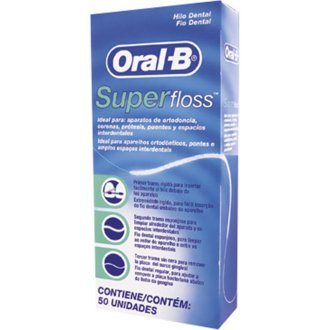 1 x Oral -B Super Floss 50 PRE-CUT STRANDS, Dental Floss