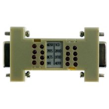 Serial Port RS232 RS 232 Loopback Loop Back Plug Tester LED Adaptor
