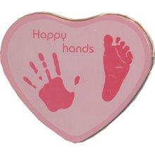 Happy Hands Hand & Footprint Tin Pink