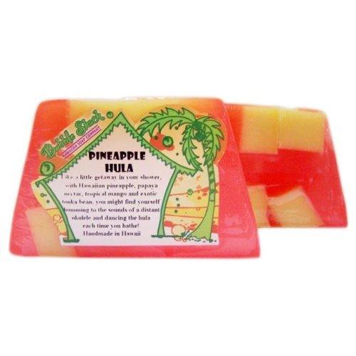 Bubble Shack Hawaii 492772005824 Pineapple Hula Chunk Soaps - Pack of 2