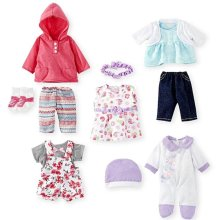 "Toys R Us Set of 5 Outfits for Dolls 12-14"" or dolls 16""-18"""