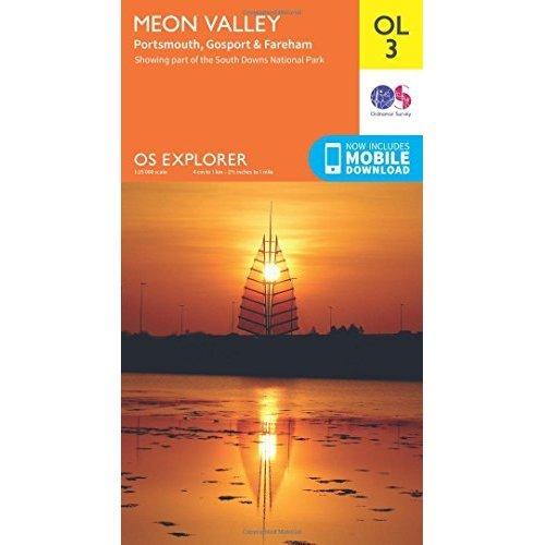 OS Explorer OL3 Meon Valley, Porstmouth, Gosport & Fareham (OS Explorer Map)