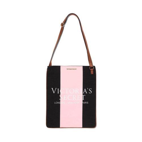 Victoria's Secret Canvas Cross Body Bag Black & Pink