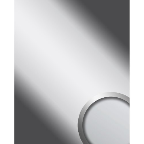 WallFace 10324 DECO SILVER Wall panel self-adhesive Mirror glossy silver 2.6 sqm
