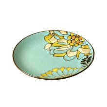 Creative Beautiful Flower Ceramic Dinner Party Plate,8.5 Inch,A