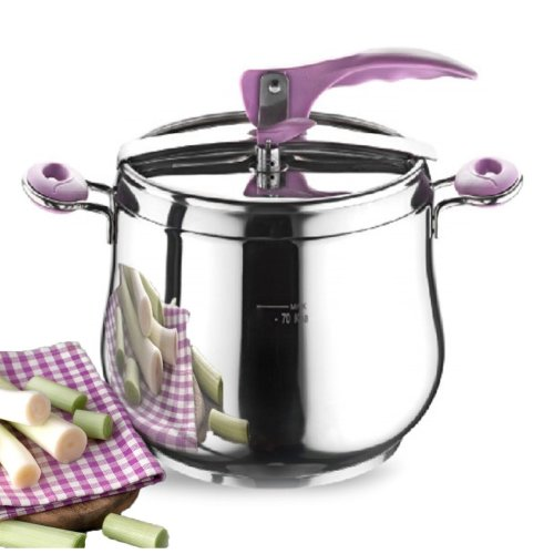 Stainless Steel Stovetop Pressure Cooker Stockpot Induction Base 5/7/9 L