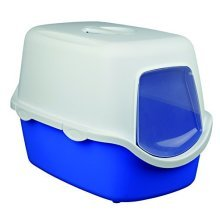 Vico Litter Tray, With Dome - Trixie Tray Cat 40 Blue 40x40x56cm Bluewhite -  trixie litter tray vico cat 40 blue dome 40x40x56cm bluewhite hooded