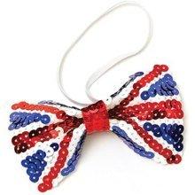 Union Jack Sequin Bow Tie -  tie union jack bow sequin fancy dress ba908 party bristol novelty