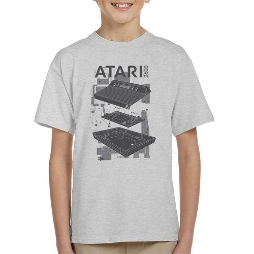 Atari 2600 Console Schematic Kid's T-Shirt