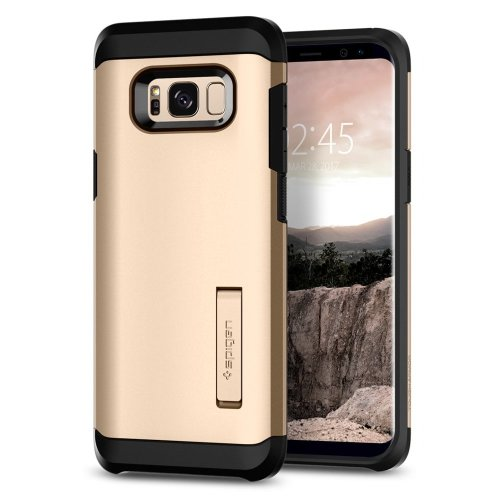 outlet store 8d2ff 7baf7 Spigen Tough Armor Galaxy S8 Plus Case with Kickstand and Extreme Heavy  Duty Protection and Air Cushion Technology for Galaxy S8 Plus (2017) -...